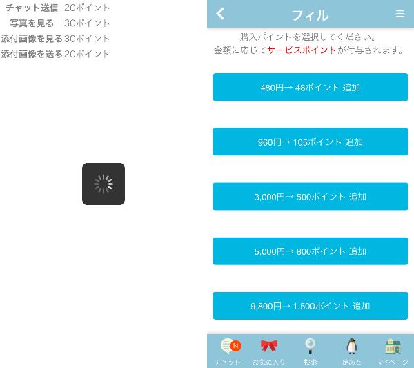 出会い系チャットアプリの恋活フィルの料金体系